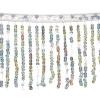 Sequin Fringe 6mm Trim Hologram Silver 15cm Long